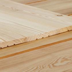 Profilholz glatt, Faseprofil sibirische Lärche 14x38 mm
