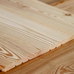 Profilholz glatt, Faseprofil sibirische Lärche 14x115 mm