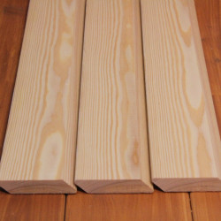 A-Sortierung / Rhombusleiste (45°) 20x90mm Sibirische Lärche