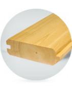 Blockbohlenprofil aus sibirischer Kiefer